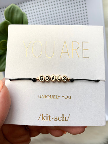 Goals String Word Bracelet