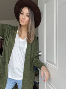 Gina Knit Cardigan- Green - Smith & Vena Online Boutique