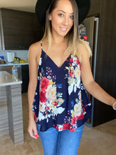 Load image into Gallery viewer, Natalie Floral Camisole-Navy - Smith & Vena Online Boutique