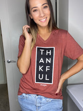 Load image into Gallery viewer, Thankful Graphic Tee- Mustard