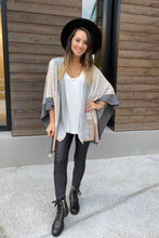 Load image into Gallery viewer, Lightly Layering Poncho Cardigan - Smith & Vena