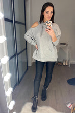 Load image into Gallery viewer, Cold Shoulder Sweatshirt - Smith & Vena Online Boutique