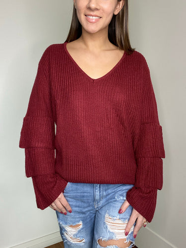 Elliot Ruffle Sleeve Sweater - FINAL SALE