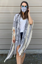 Load image into Gallery viewer, PREORDER: Gray Fringe Kimono - Smith & Vena