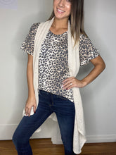 Load image into Gallery viewer, Bohemian Cardi Vest In Taupe - Smith & Vena Online Boutique