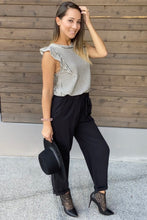 Load image into Gallery viewer, Sammie Cropped Pants in Black - Smith & Vena
