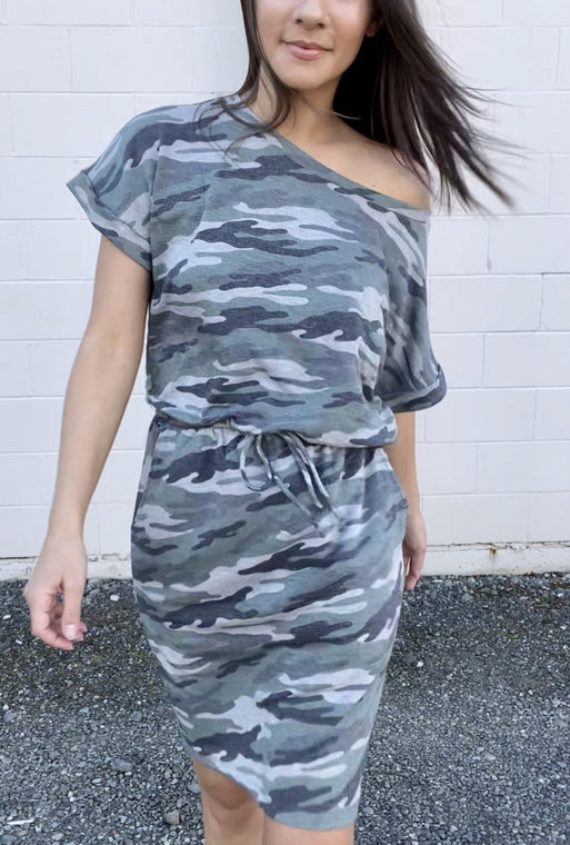 Kimberly Camo Dress - Smith & Vena Online Boutique