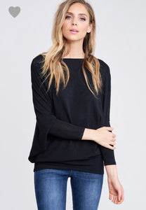 Joleen Dolman Top - Black - Smith & Vena Online Boutique