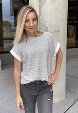 Load image into Gallery viewer, Heather Stripe Top - Smith & Vena Online Boutique