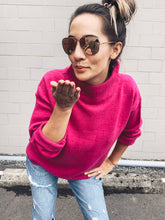 Load image into Gallery viewer, Raven Mock Neck Sweater - Pink - Smith & Vena Online Boutique