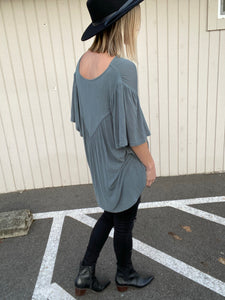 Flutter Sleeve V Neck - Smith & Vena Online Boutique