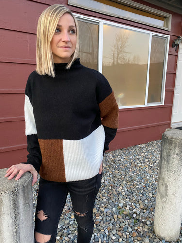 Amy Color Block Sweater - Smith & Vena Online Boutique