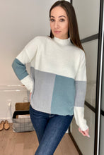 Load image into Gallery viewer, Chloe Color Block in Teal - Smith & Vena Online Boutique