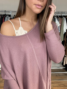 Dylan Oversized Top- Mauve - Smith & Vena Online Boutique
