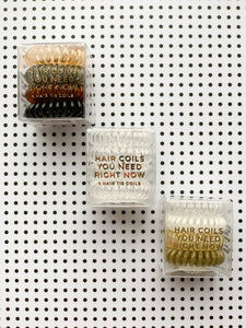 X Transparent Hair Coils