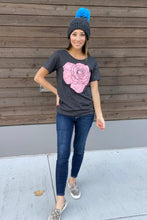 Load image into Gallery viewer, Rose Scoop Neck Graphic Tee - Smith & Vena Online Boutique