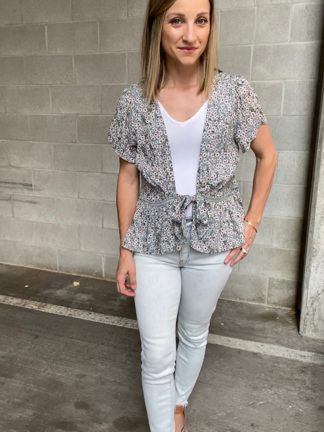 Floral Layering Top- SAMPLE - Smith & Vena Online Boutique