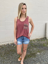 Load image into Gallery viewer, Aztec Petal Tank-Terra Cotta - Smith & Vena Online Boutique
