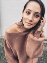Load image into Gallery viewer, Kylie Cutout Sweater - Mocha - Smith & Vena Online Boutique