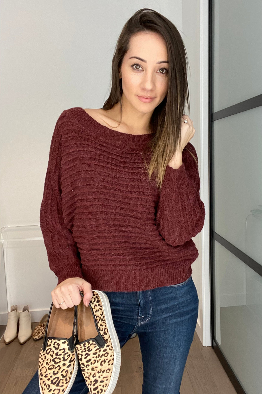 Tai Sweater in Wine - Smith & Vena Online Boutique