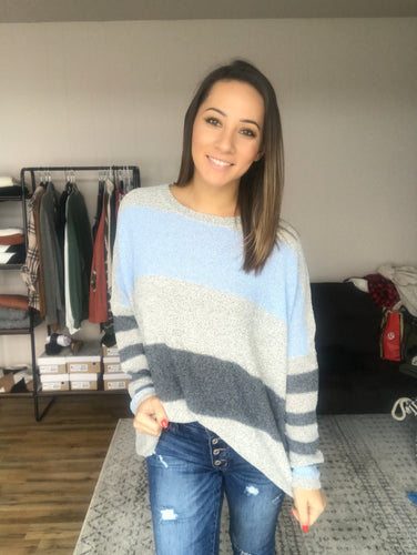 Kimberly Stripe Knit Sweater - Smith & Vena Online Boutique