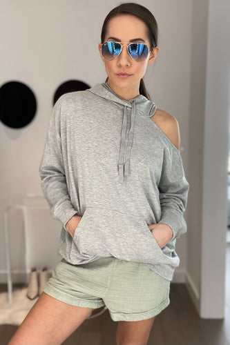 Cold Shoulder Sweatshirt - Smith & Vena