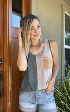 Load image into Gallery viewer, Sage Pocket Tank - Smith & Vena Online Boutique