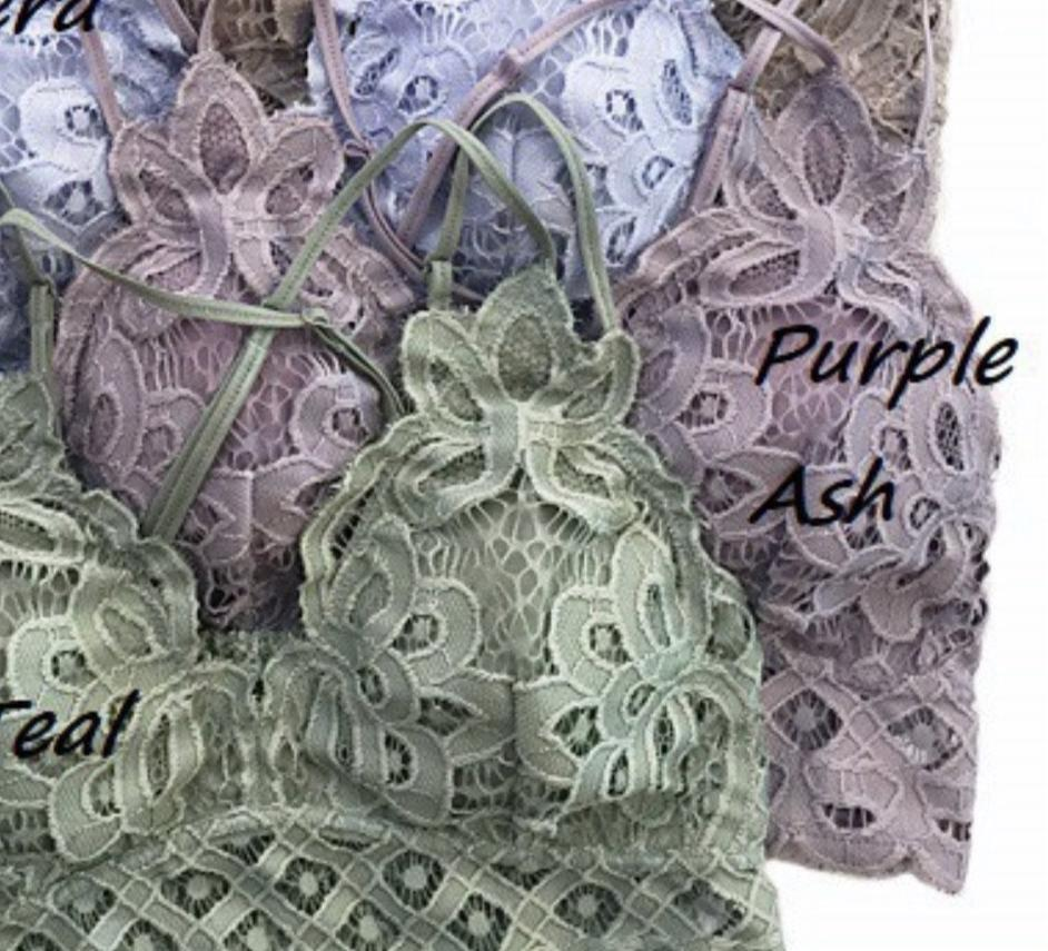 X Lacey Bralette - Purple Ash - Smith & Vena Online Boutique