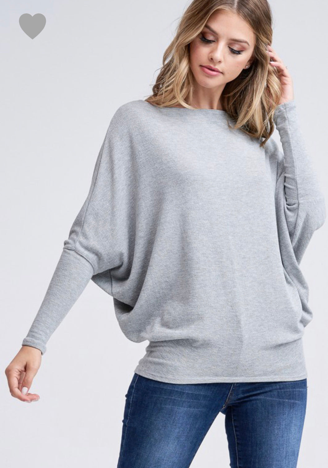 X Joleen Dolman Top - Gray - Smith & Vena Online Boutique