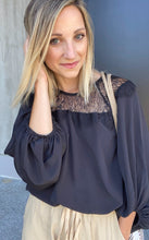 Load image into Gallery viewer, Straight Laced Blouse In Black - Smith & Vena Online Boutique