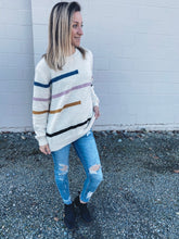 Load image into Gallery viewer, Jordan Stripe Sweater - Smith & Vena Online Boutique