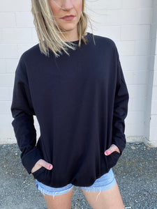 Tessa Pocket Top - Black - Smith & Vena Online Boutique