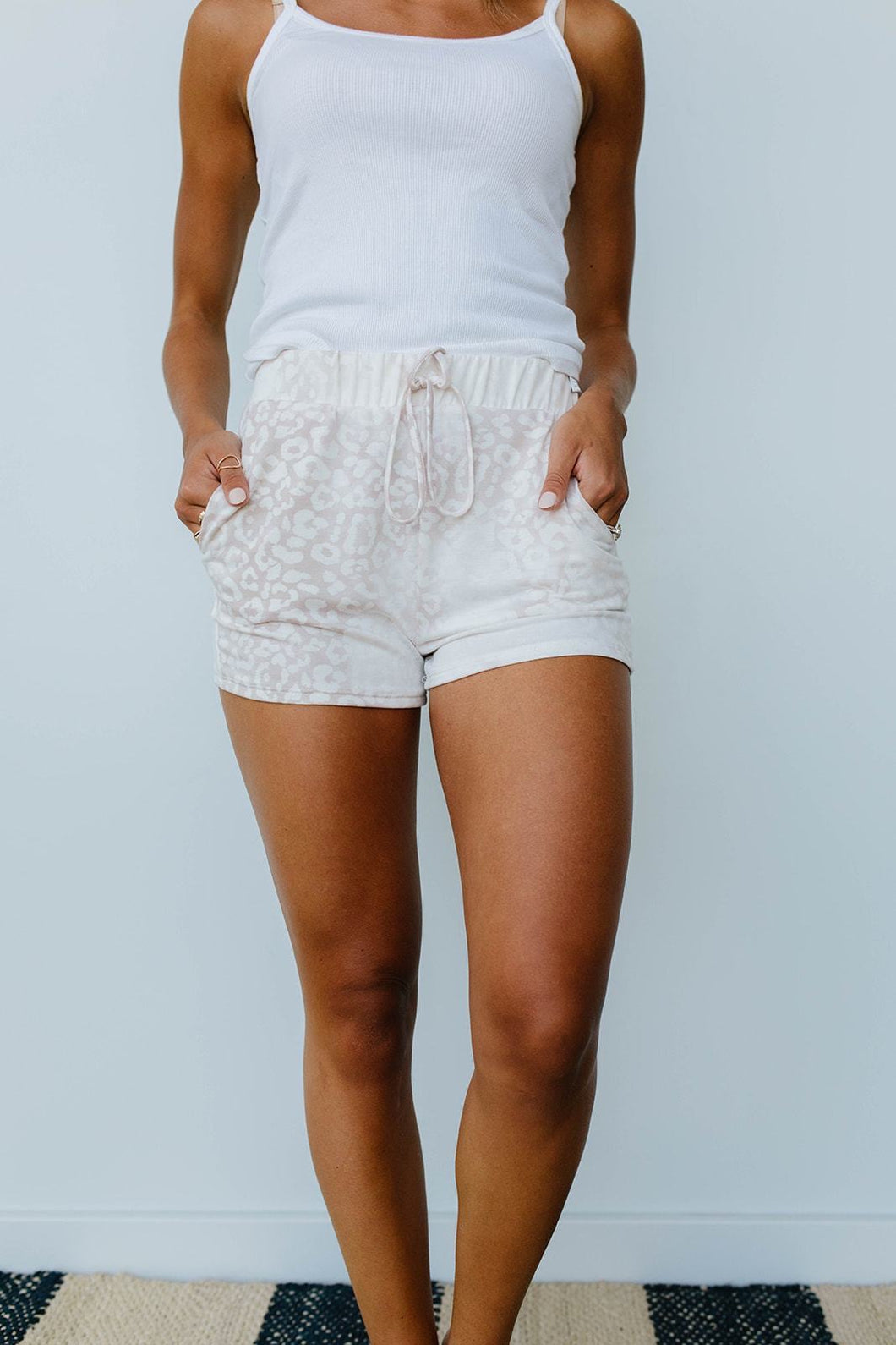Faded Taupe Shorts - SAMPLE - Smith & Vena Online Boutique