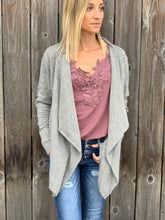 Load image into Gallery viewer, Shyla Cardigan- Grey - Smith & Vena Online Boutique