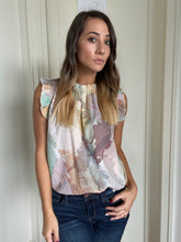 Load image into Gallery viewer, Abstract Pastel Blouse - Smith & Vena Online Boutique