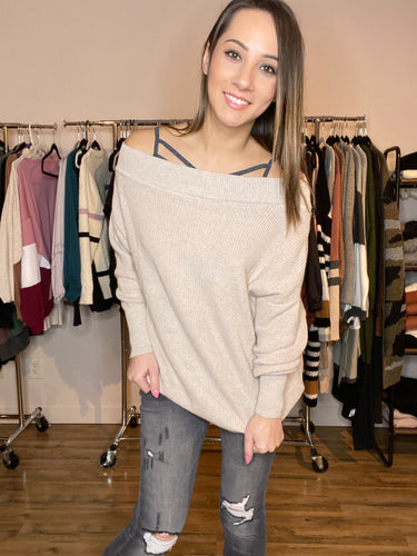 Dawn Off Shoulder Sweater - Smith & Vena Online Boutique