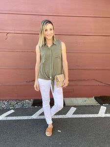Miles Button Down Top- SAMPLE - Smith & Vena Online Boutique