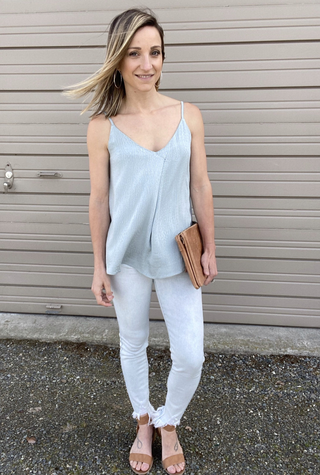 Simple Pleat Camisole - Smith & Vena Online Boutique