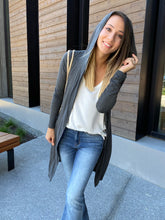 Load image into Gallery viewer, Between Seasons Cardigan In Charcoal - Smith & Vena Online Boutique