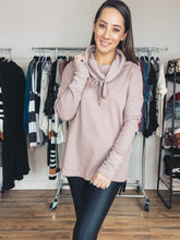 Load image into Gallery viewer, Zara Cowl Neck Pullover - Smith & Vena Online Boutique