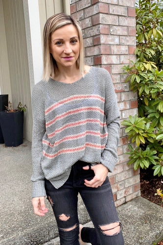 Eliza Striped Sweater - Smith & Vena