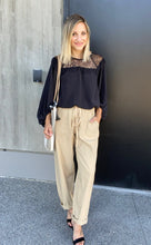 Load image into Gallery viewer, Sammie Cropped Pants In Sand - SAMPLE - Smith & Vena Online Boutique