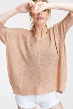 Load image into Gallery viewer, Stella Knit Dolman - Blush
