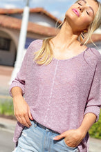 Load image into Gallery viewer, X Stella Knit Dolman - Lavender - Smith & Vena Online Boutique