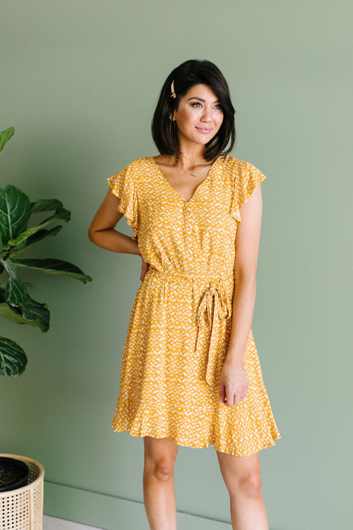 Joanna Midi Dress In Marigold - Smith & Vena Online Boutique