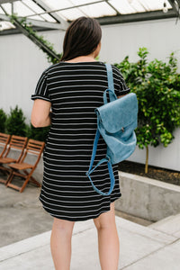 Avril Striped T-Shirt Dress - Smith & Vena Online Boutique