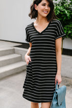 Load image into Gallery viewer, Avril Striped T-Shirt Dress - Smith & Vena Online Boutique