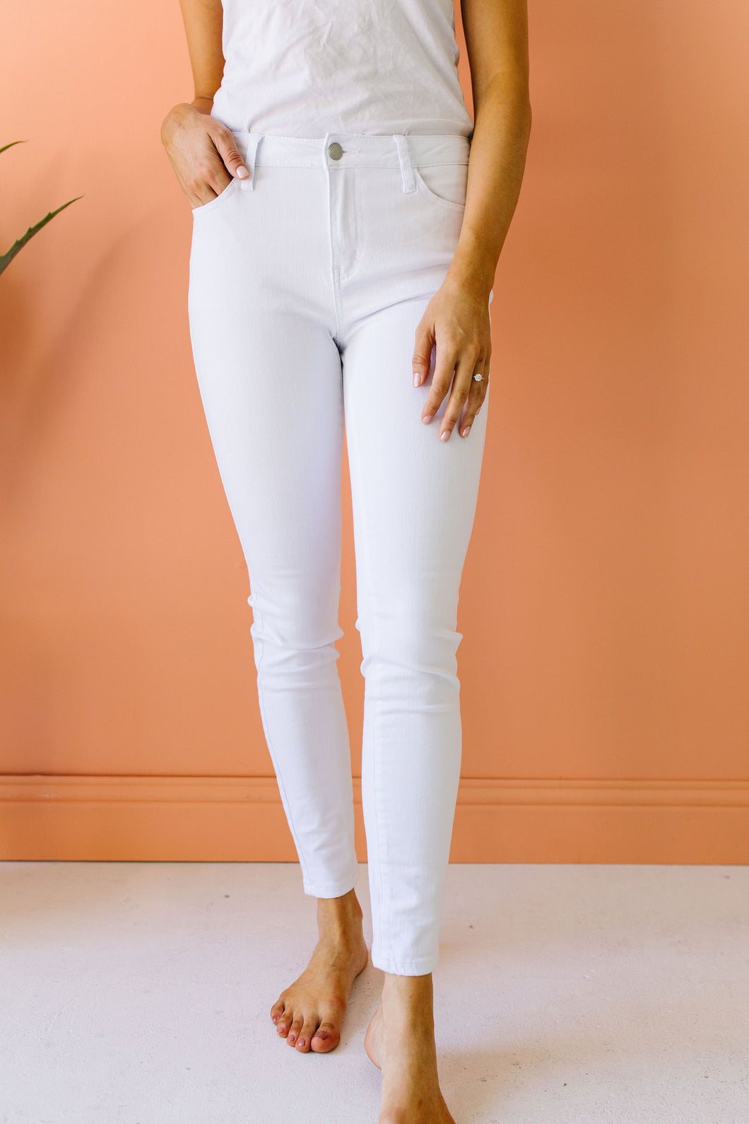 Keeping It Tight White Jeans - Smith & Vena Online Boutique