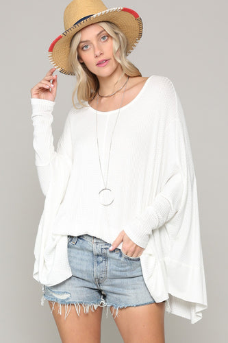 Dylan Oversized Top- White - Smith & Vena Online Boutique