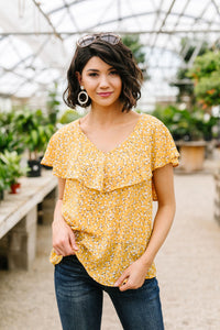 Marigold Ruffled Blouse - Smith & Vena Online Boutique